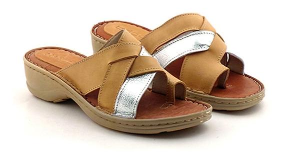 Sandalia Mujer Cuero Briganti Zapato Verano Goma - Mcch26029