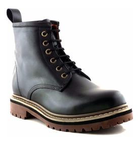 Borcego Mujer Bota Cuero Briganti Negro Zapato - Mcbo24671