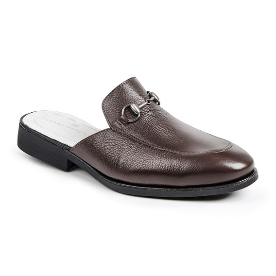 Sapato Masculino Sandro Moscoloni Mule Colection Marrom