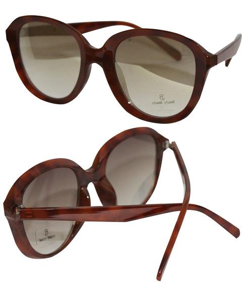 Óculos De Sol Redondo Feminino Lente Espelhado Barato