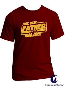 Camisa Estampada The Best Father In The Galaxy Star Wars
