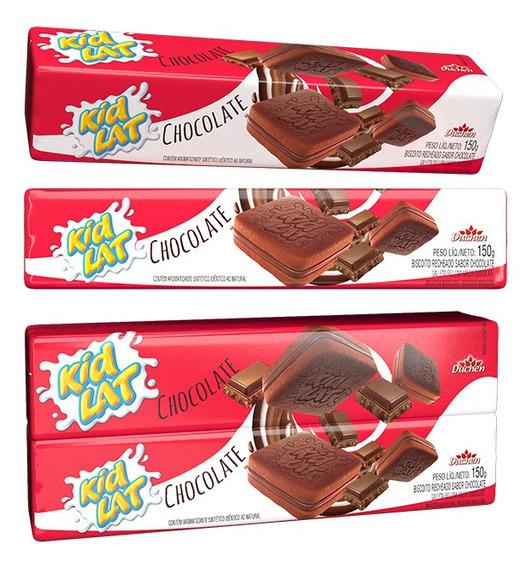 Biscoito Recheado Atacado 48 Pacotes De 150g Sabor Chocolate