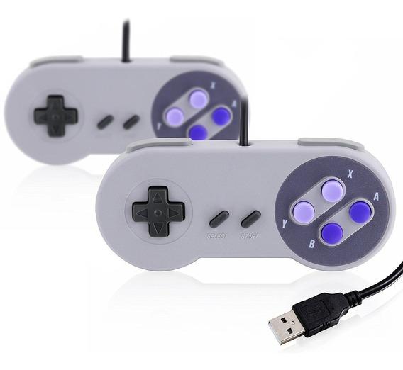 2 Controles De Super Nintendo Usb Para Pc Raspberry