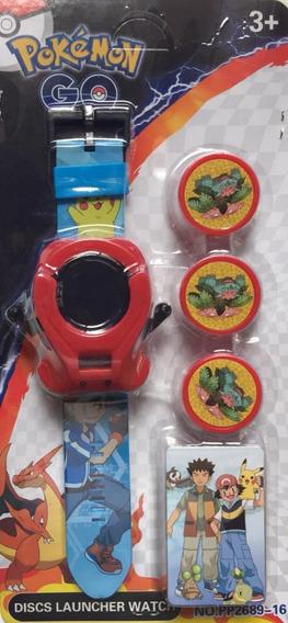 Relógio Pokemon Go Lançador De Discos Infantil Frete Grátis