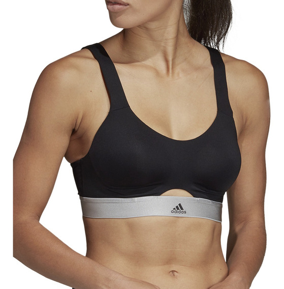 Top adidas Training Stronger Soft Mujer Ng/gr
