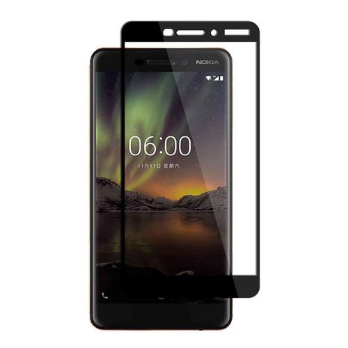 Imagen 1 de 3 de Protector Pantalla Vidrio Templado 3d Nokia 6.1 - Negro
