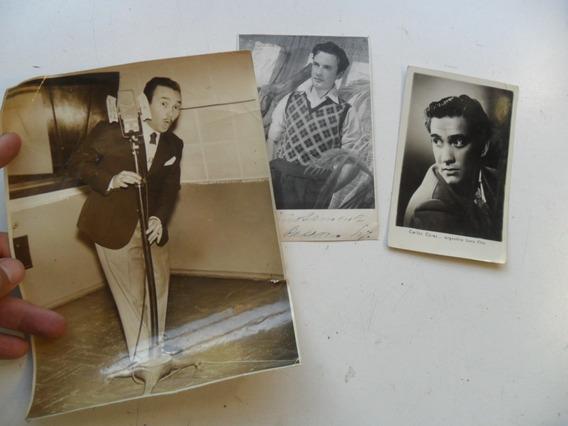 Lote Foto Antiguo Actor Delfor Dislocada Carlos Cores Cine
