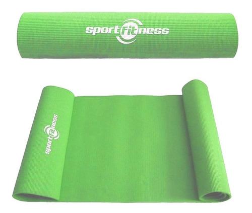 Colchoneta Yoga Mat Pilates Sportfitness 6mm Ejercicios Gym