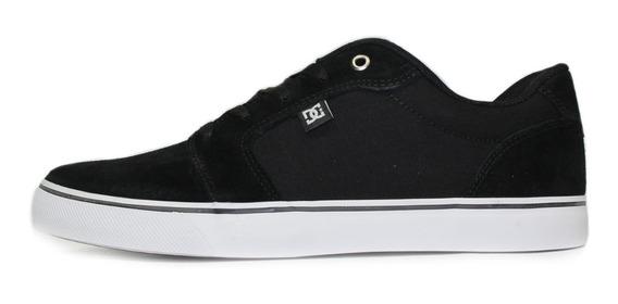 Tênis Skatista Dc Shoes Anvil La Preto/branco Orginal