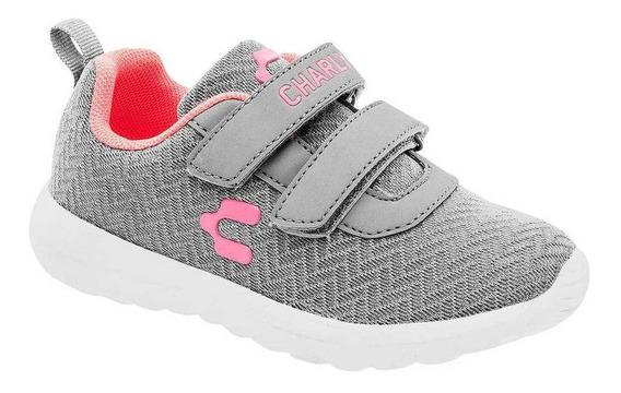 Tenis Charly Niña 1069510 Color Gris Talla 18-21 -shoes