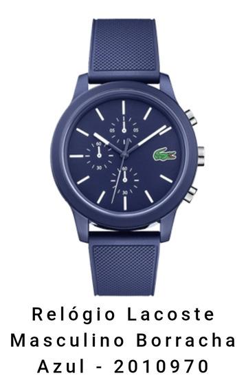 Relógio Lacoste Masculino Borracha Azul - 2010970