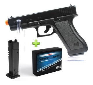 Pistola Airsoft Glock G7 Kwc Spring Gun - 6 Mm Frete Gratis