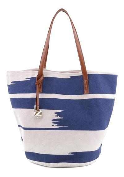 Bolsa Tote Arezzo Branca Azul Royal 27,5x12,5cm - Arezzo