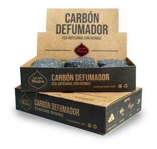 Carbón Sagrada Madre Eco-artesanal Alcanfor-ruda-romero12un.
