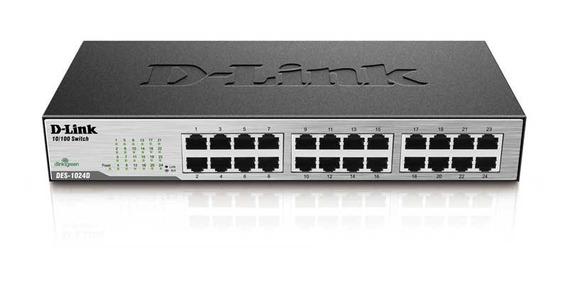 Switch D-link Des-1024d - 24 Portas 10/100mbps