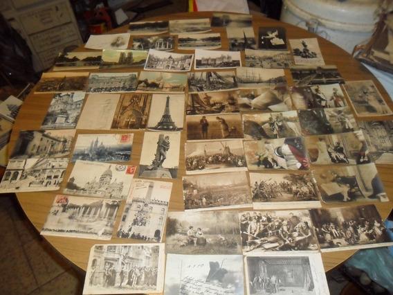 Lote De 80 Postales¡ Antiguas¡ Con Sello¡ Principio De Siglo