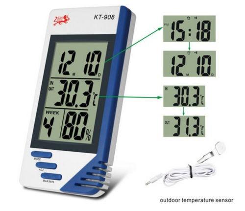 Lcd Digital De Humedad Interior Temperatura Exterior Lcd Hig