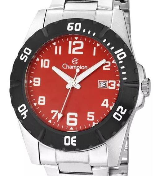 Relógio Champion Masculino Original Ca31300v Prateado + Nota