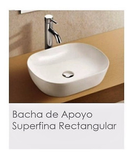 Bacha De Loza Pringles De Apoyo Rectangular Superfina Bca