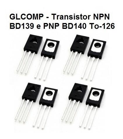 Transistor Bd139 E Bd140 Kit C/ 20 Peças 10 De Cada - Carta