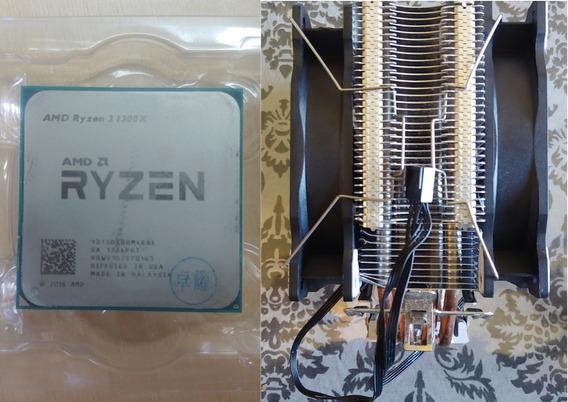 Processador Ryzen 3 1300x + Air Cooler 12cm Duplo 4 Heatpipe