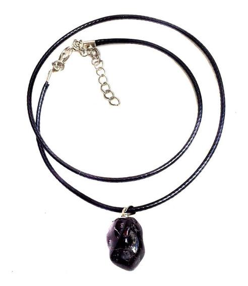 Colar Pedra Cristal Natural Turmalina Negra Signos Libra 206