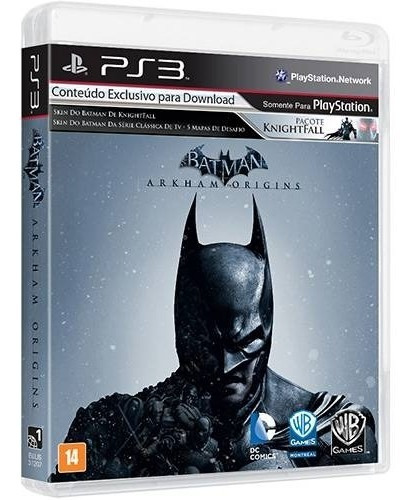Jogo Batman: Arkham Origins - Ps3 Playstation 3 Midia Física