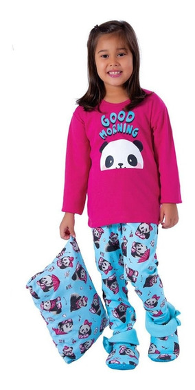 Pijama Infantil Para Meninas De Inverno Roupa Dormir De Frio