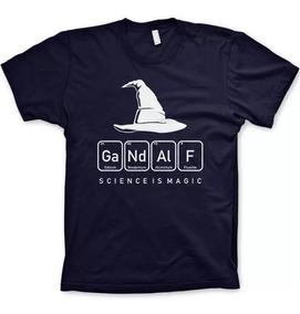 Camisa Senhor Dos Anéis Gandalf Tabela Elemento Filmes