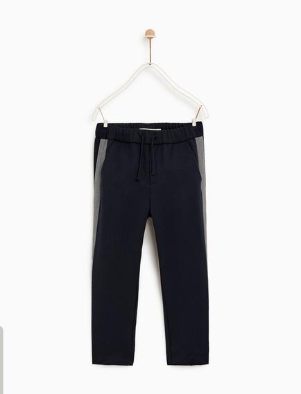 Pantalon Jogger Banda Marca Zara