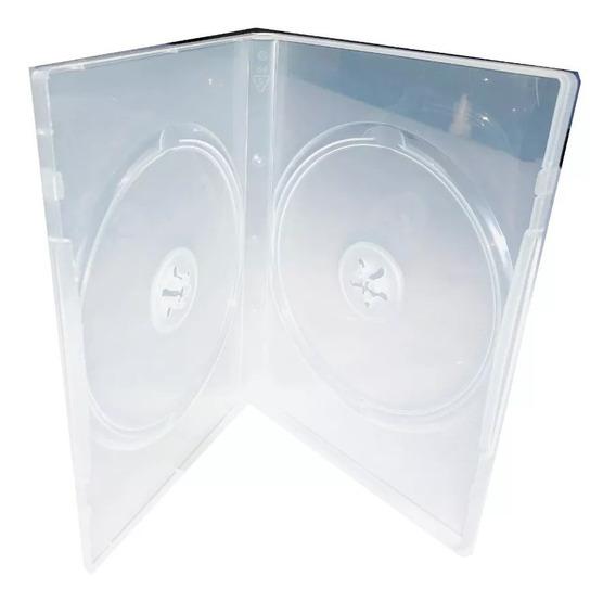 Estuche Para Dvd Transparente Doble 14mm 10 Pzas