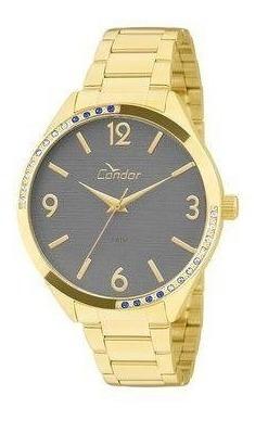 Relógio Condor Feminino Dourado Co2035krt/4c Original Barato