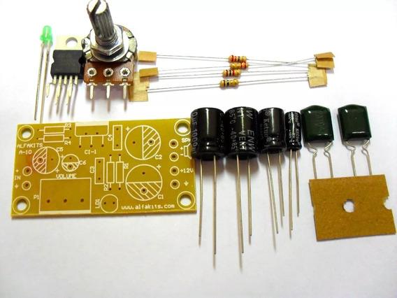 Kit Placa Circuito Amplificador 10w 12v Alfakits P/ Montar