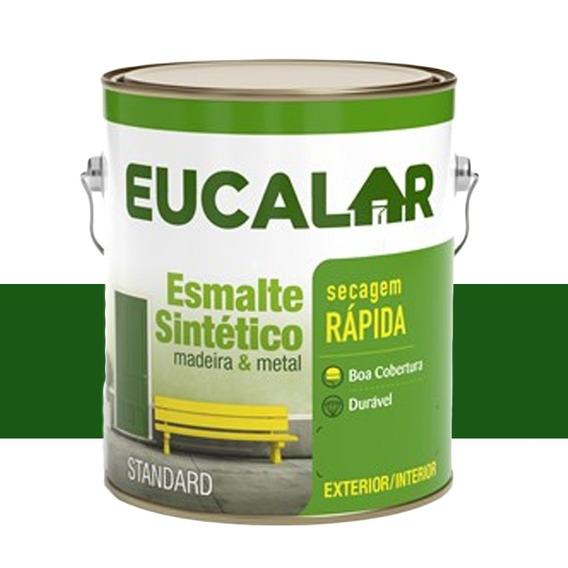 Tinta Esmalte Sintético Eucalar Verde Folha 900 Ml Eucatex