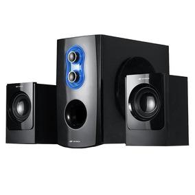 Caixa De Som C3 Tech Sp-100bk 2.1 20w Rms Fm Sd Usb