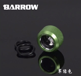 Fitting Barrow Verde Anodizado De 14mm Kit C/7