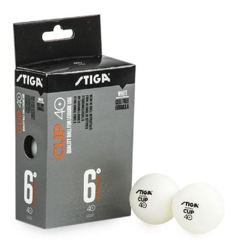 Imagen 1 de 1 de Pelotas De Ping Pong Stiga 40 Mm X6
