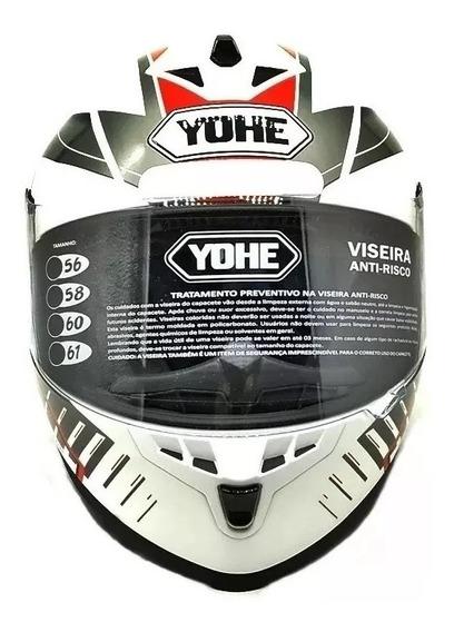 Capacete Moto Fechado Yohe New Race Tronik Promocao