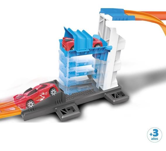 Pista De Auto Con Elevador Extremo Tipo Hot Wheels Velocidad