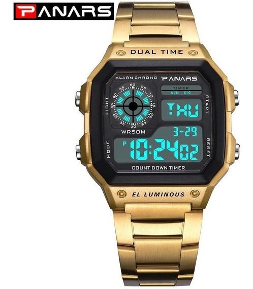 Relógio Feminino Digital Dourado A Prova De Água Original