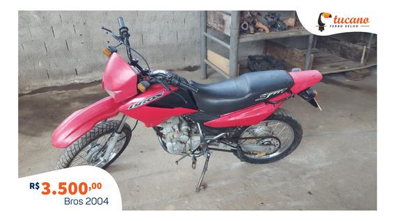 Moto Honda Nxr 125cc Bros Es 2004 - Funcionando