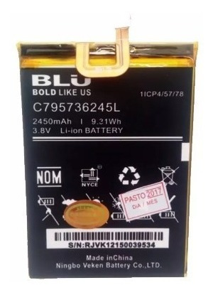 Bateria Pila Blu Studio 1 One S0110 S0110e C795736245l Nueva