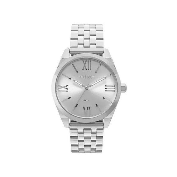 Relógio Euro Feminino Recortes Prata Eu2035ynh/3k