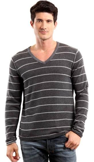 Sweater Camisa Calvin Klein Jeans Gola V Fino Sueter Blusao