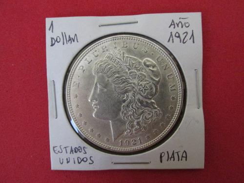 Moneda 1 Dollar Morgan Estados Unidos De Plata Año 1921