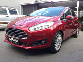Ford Fiesta Titanium 2014 Vermelha Flex