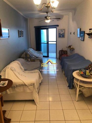 Apartamento Com 2 Dormitórios À Venda, 70 M² Por R$ 320.000,00 - Vila Assunção - Praia Grande/sp - Ap1804