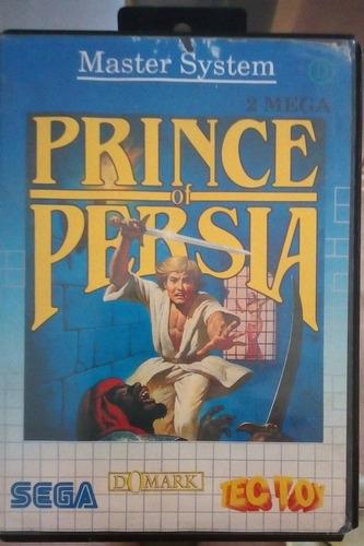 Cartucho Master System Prince Of Persia + Capa + Estojo