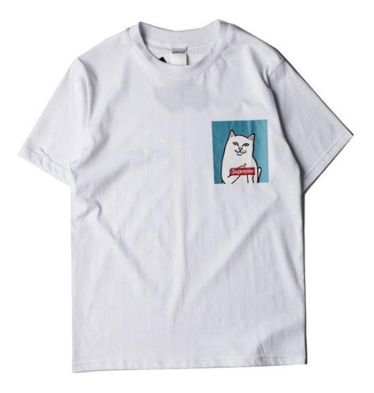 Playera Camiseta Ripndip Supreme Bolsillo Gato Enojado