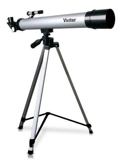 Telescópio Refrator Vivitar Vivtel50600 Com Tripé 600mm